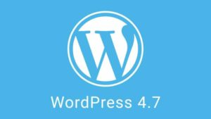 WordPress version 4.7
