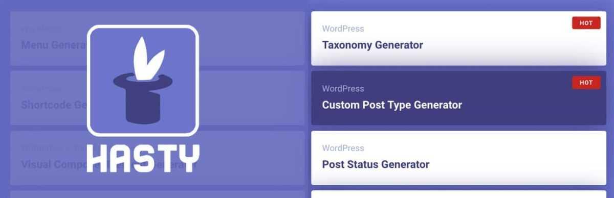 Créer des Custom Posts Type avec WP Hasty