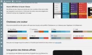 Les nouveaux jeux de couleurs avec WordPress 3.8